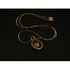 Handmade necklace silver 925 with sphere #handmade #handmadejewelry #jewelry