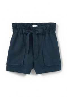 Шорты Mango, цвет: синий. Артикул: MA002EWIPY94. Женская одежда / Шорты