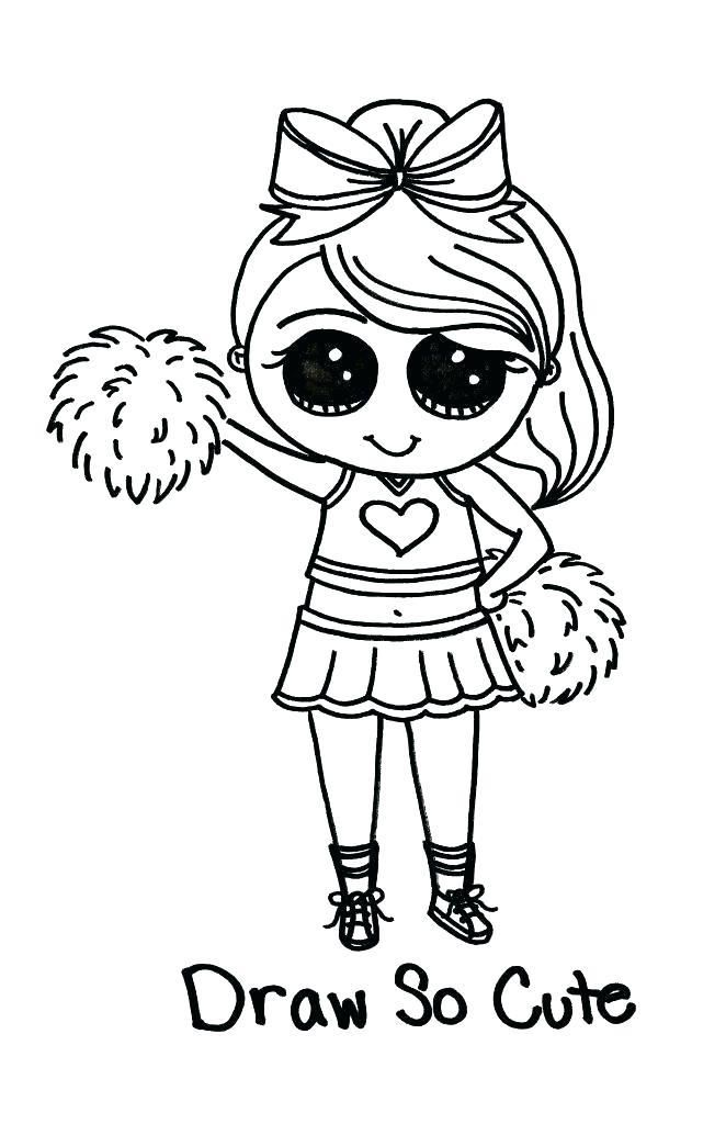 Printable Cheerleading Coloring Pages Coloring Pages Home Unicorn Coloring Pages Cute Coloring Pages Cat Coloring Page