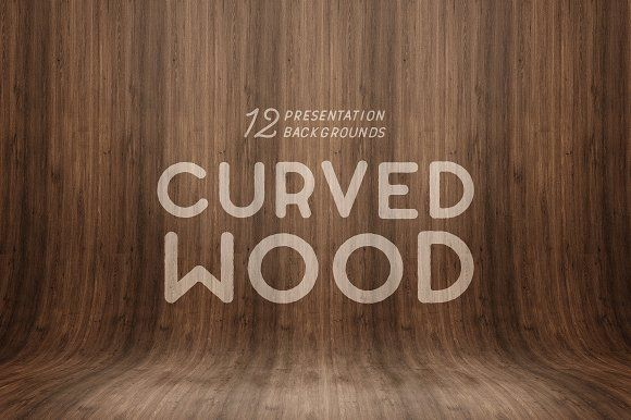 Curved Wood Presentation Backgrounds by Medialoot on @Graphicsauthor