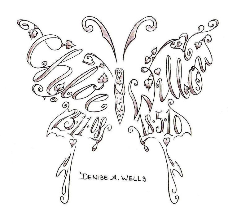 Google Image Result for http://fc02.deviantart.net/fs70/i/2011/118/1/d/names___butterfly_shape_tattoo_by_deniseawells-d3f56xu.jpgTattoo Ideas, Tattooideas, Butterflies, Name Tattoos, Kids, Butterfly Tattoos, Kid Names, Tatoo, Ink