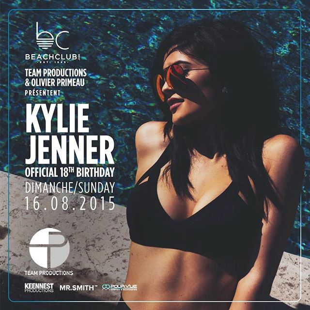 Pin for Later: How Kylie Jenner Is Nothing Like Your Typical Teenager She's getting paid to celebrate her 18th birthday. Kylie's big day is Aug. 10. She's partying it up in Montreal six days later at a special celebration.