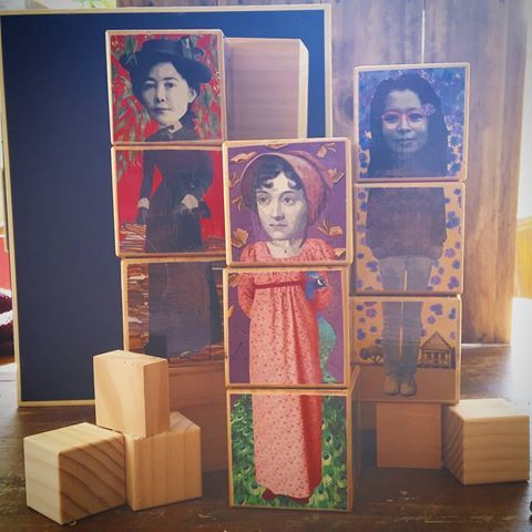 Spending my morning packaging up these fine ladies #iconblocks  #writers 'ladies of letters' edition  Featuring #janeaustin #milesfranklin #alicewalker #ladybosses all Find me on #etsy and in selected stores