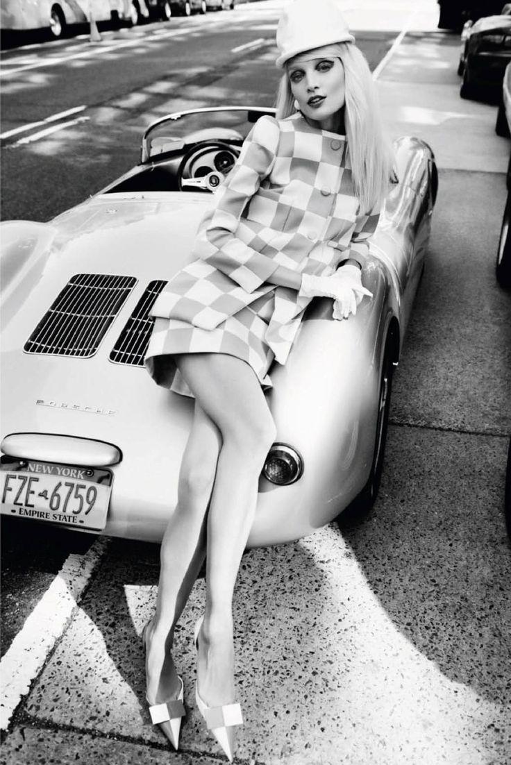 Melissa Tammerijn and Porsche 550 #porsche #cargirl