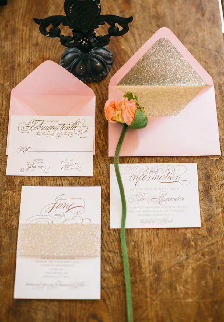 Blush and gold wedding stationery 205 best