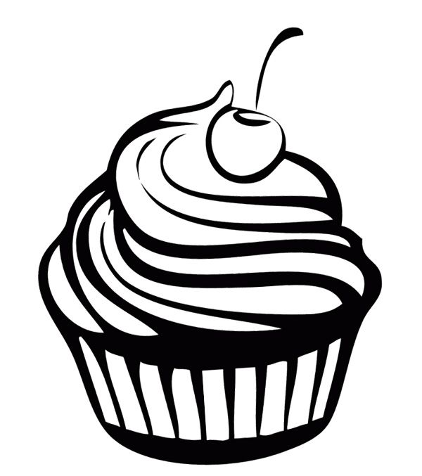 Sweet Cupcake Chocolate Coloring Page Cookie Pinterest