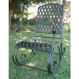 wrought iron rocker - a bit old fashioned but I need something indestructible for my direct sun front porch