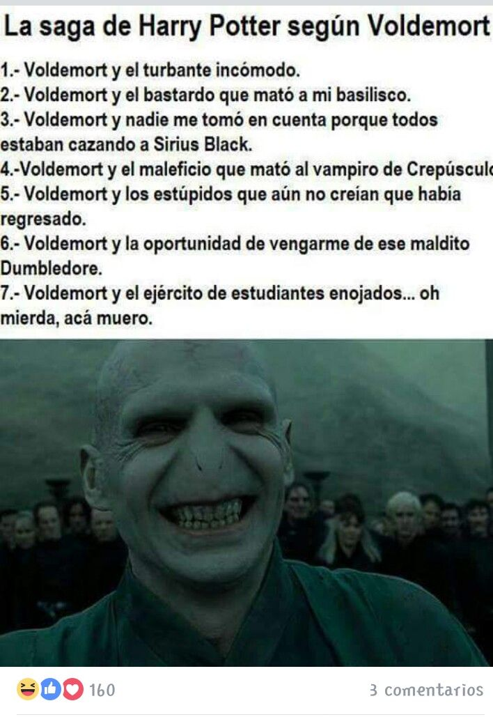"Jaajjja.  La saga de Harry Potter según ""voldemort"""