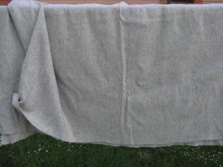 Handwoven sheep wool cloth.....