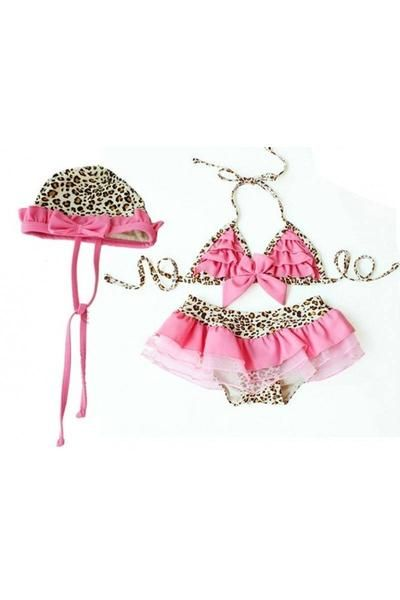Pink Leopard Bikini Swimsuit Set - Sparkle in Pink