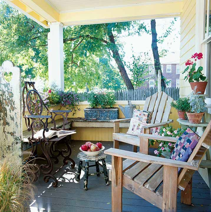 Cool A Sweet U Simple Cottage Bungalow Front With Porch Ideas