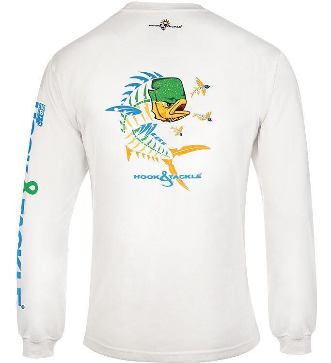 Men's Mahi Mahi X-Ray L/S UV Fishing T-Shirt