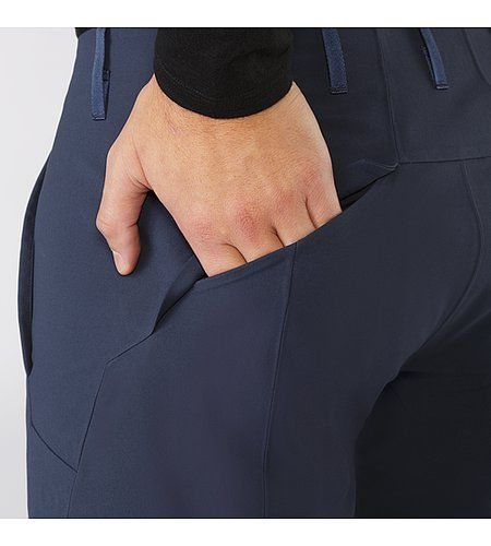Indisce Pant Men's Articulated and slim fitting pant in a windproof and water…