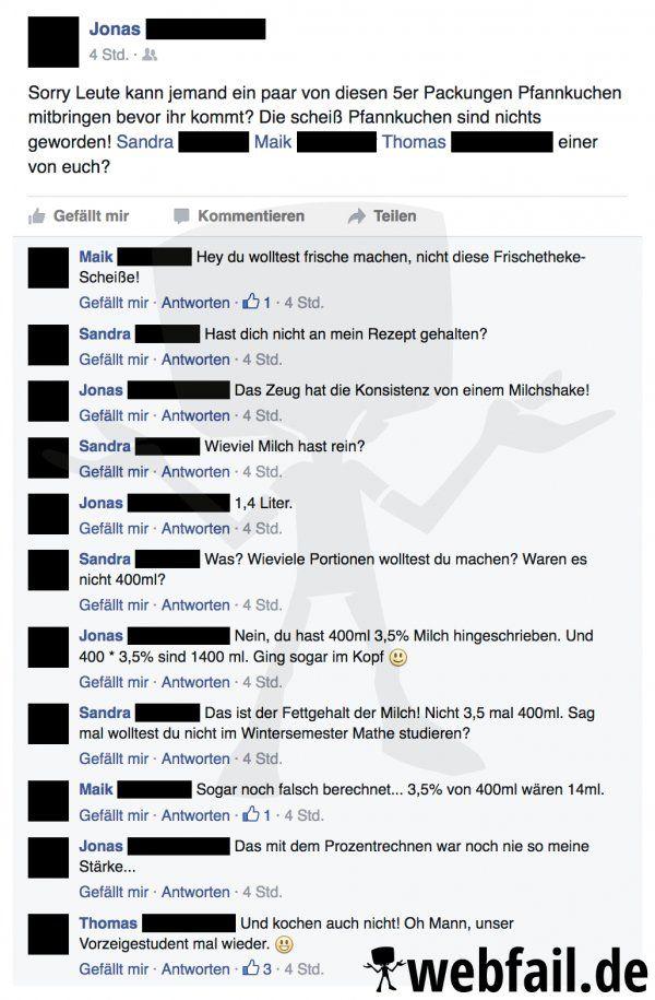 Wenn Männer kochen - Facebook Fail des Tages 05.09.2016   Webfail - Fail Bilder…