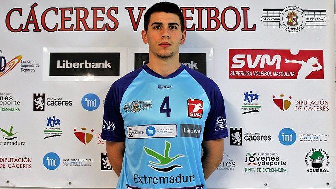 El jugador del Electrocash Extremadura Bruno Miguel Rubbo, formando parte del septeto ideal de la jornada.