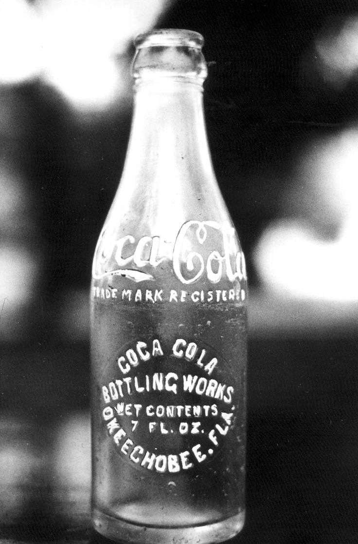 An old fashioned Coca-Cola bottle.   Florida Memory