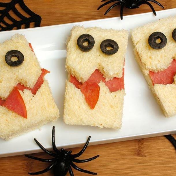 Les 25 meilleures id es concernant mini sandwichs sur pinterest amuse gueules de f te - Aperitif dinatoire halloween ...