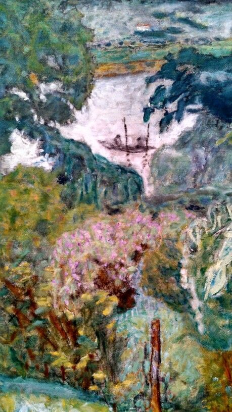 Pierre Bonnard: (Detail) The Seine at Veronnet