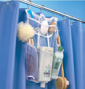The Mesh Shower Organizer is perfect way to store your shower accessories. Hope it wouldnt be too heavy....but i need storage for my clawfoot tub/shower