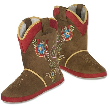 Cowboy Boot Slippers - Cr Boot