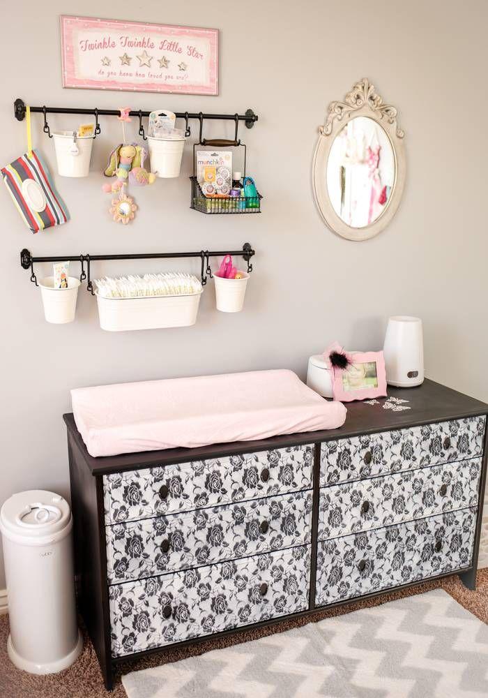 Diy Baby Changing Station Nursery Organization