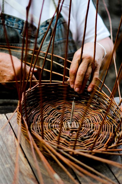 How To Weave A Hazel Basket : Best images about knitting from rods on