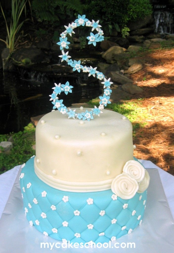 Blue and White @Skylar Eager's perfect birthday cake!