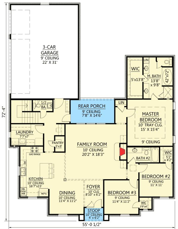 Plan 56391SM: 3 Bed French Country with Bonus