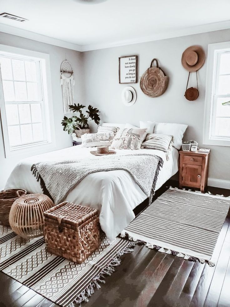 Light Grey Boho Bedroom Luxe Bedroom Chic Bedroom Decor Boho Bedroom Design Gray boho bedroom ideas