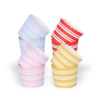 Pink striped baking cups ONLY $3.95 pk 25 www.sweetlittlesoiree.com.au