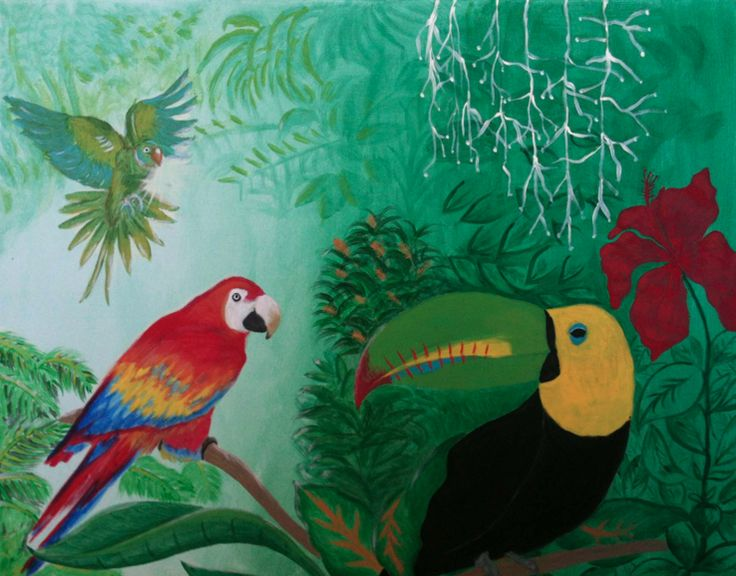#tropicalbirds #painting #art