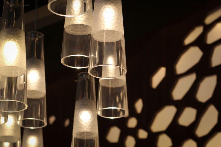 Rosewood Hotel Abu Dhabi, United Arab Emirates. #bar #lighting #design #crystal #glass