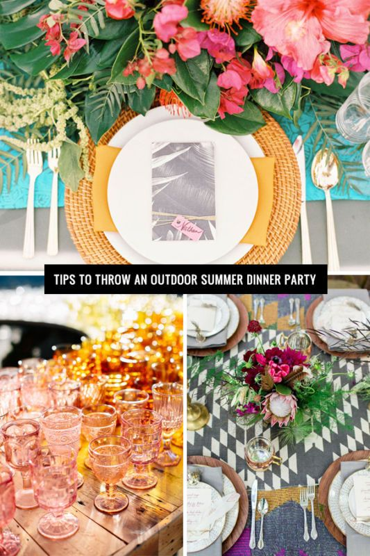 Tips to throw an outdoor Summer dinner party with fun finds from eBay. There's still time to celebrate the season <3