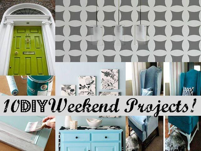 10 DIY Weekend Projects!: Canvas Ideas, Diy Ideas, 10 Diy, Weekend Projects, Diy Weekend, Boxes Spring, Projects Ideas, House Projects, Diy Projects