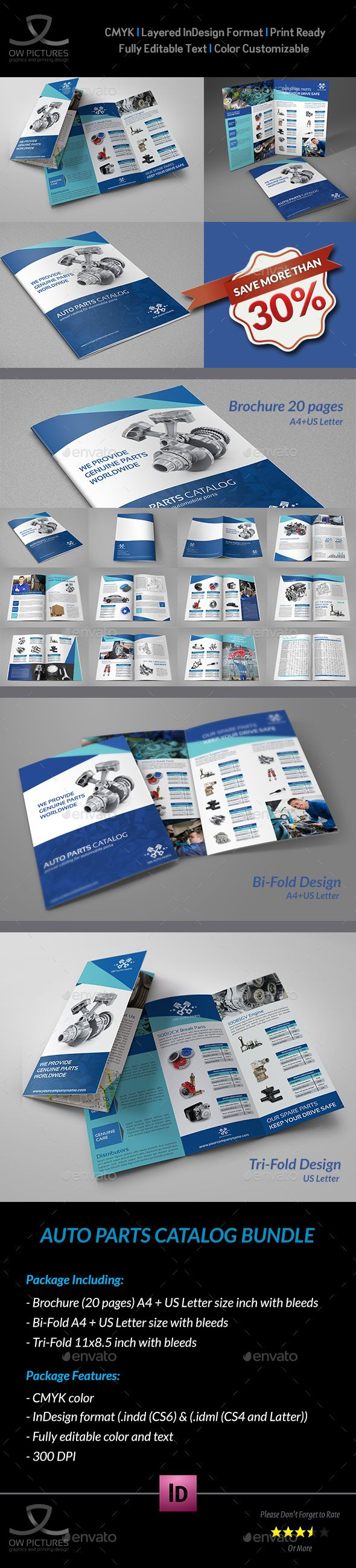 Auto Parts Catalog Brochure Bundle Template — InDesign INDD #component #brochure • Available here → https://graphicriver.net/item/auto-parts-catalog-brochure-bundle-template/13646105?ref=pxcr