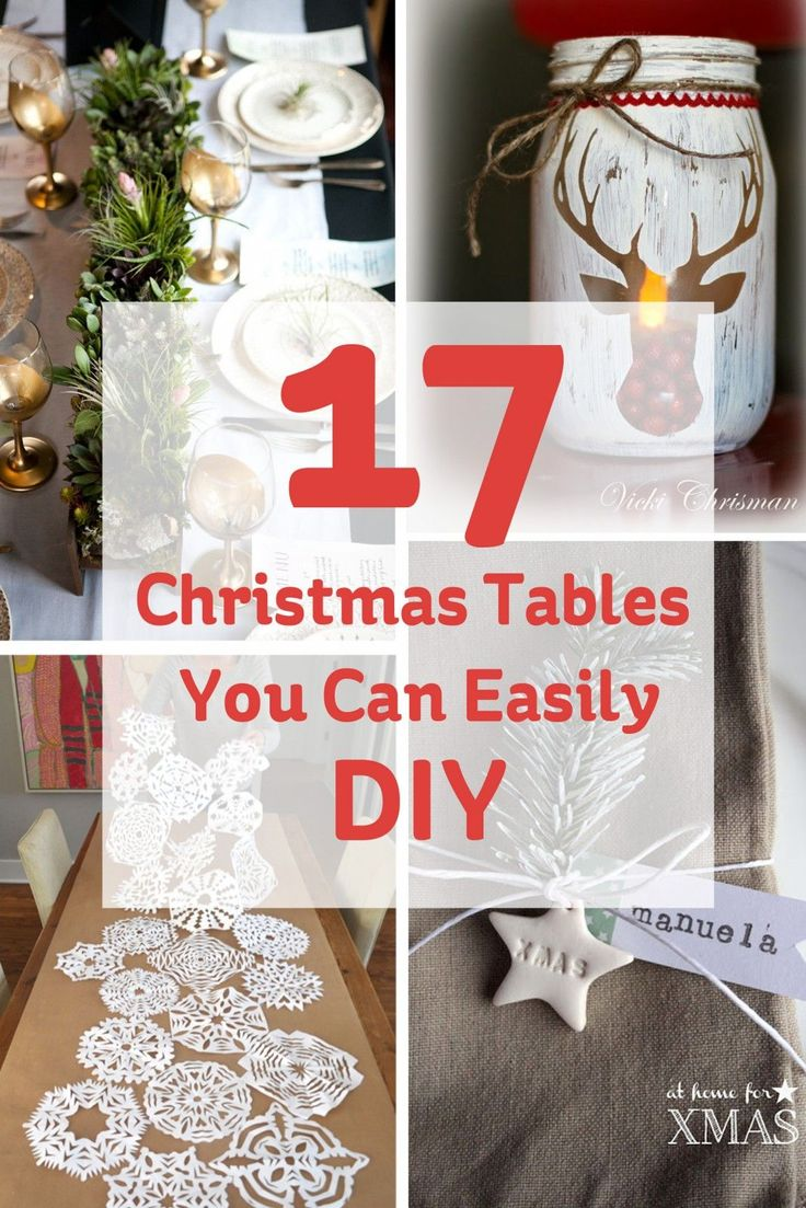 The Christmas table is one part of Christmas that can sometimes be forgotten about until it's too late... If you want to make yours extra special this year, have a go at adding some personalised touches that will really make it stand out!