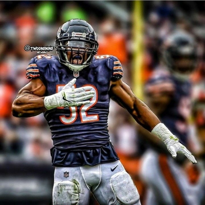 Khalil Mack Bears Nfl Players Nfl Cheerleaders Nfl Chicago Bears