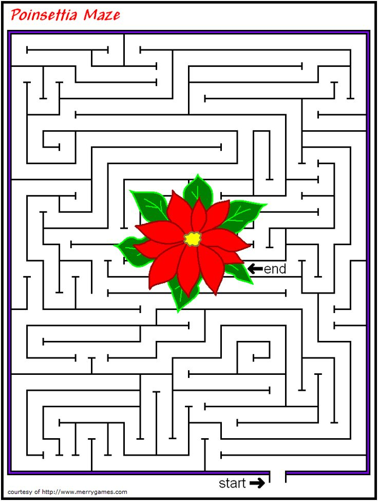 FREE Printable Christmas Mazes - Merry Games