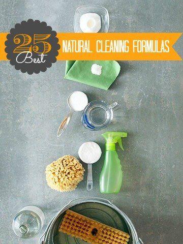 25 Best Natural Cleaning Formulas @Remodelaholic