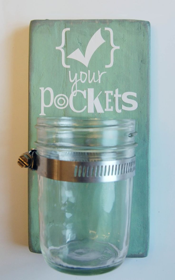 Burton Avenue: Check Your Pockets Mason Jar Sign
