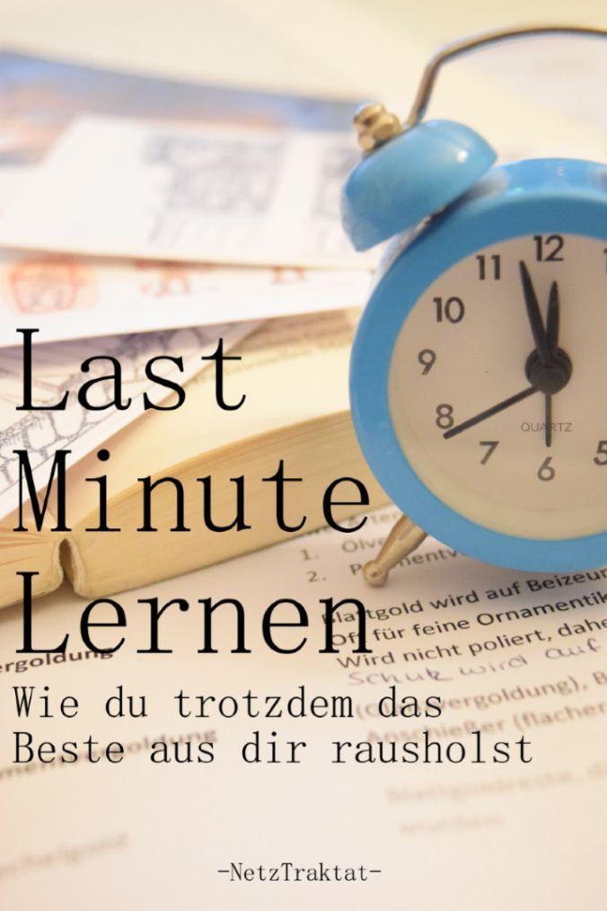 Last Minute lernen? - Immer doch...