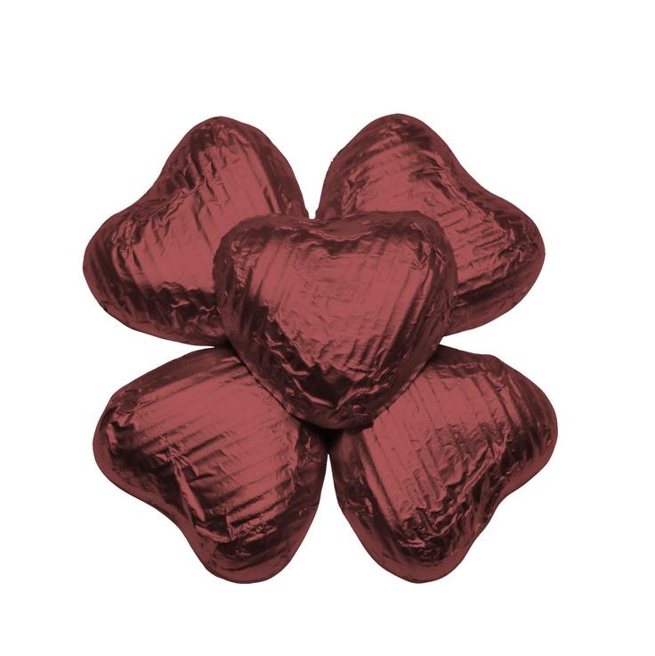 100 Chocolate Hearts, Burgundy, £20.95