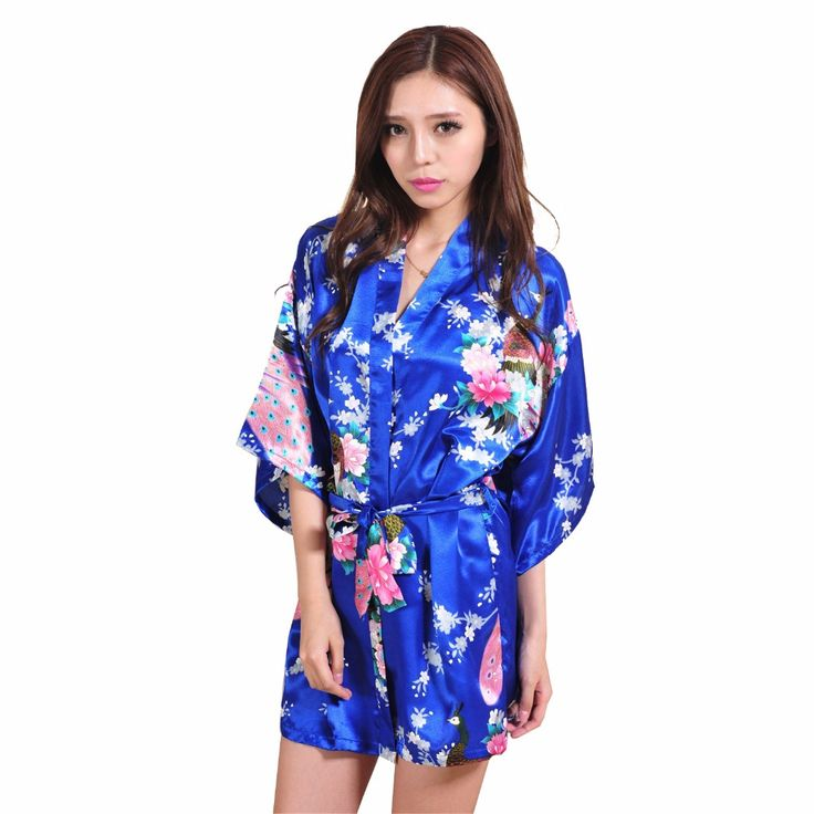 Material: Faux Silk,Rayon Size :S M L XL XXL XXXL Color: Blue 14 different color for your choice (may slight color difference according to your monitor settings) Design : Stylish Robe;Chinese Women's Fashion Nightgown New Style Design; Wholesale and Retail Dropshipping 100% Brand New Sexy Blue Women Kimono Bath Dress Gown Chinese Style Silk Mini ...
