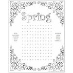 Spring Word Search & Puzzles