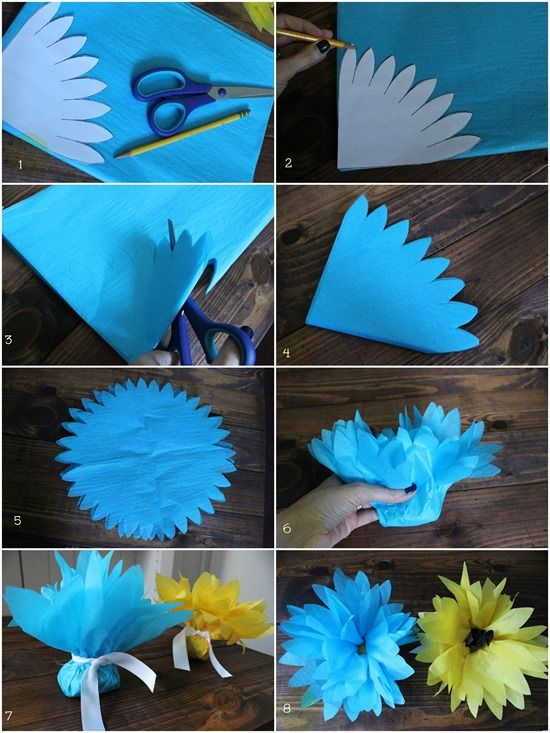 127 best paper flowers images on pinterest alcohol ink painting tissue paper flowers diy7 mightylinksfo