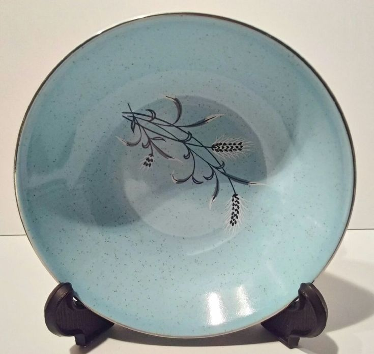 """Taylor, Smith & Taylor Blue Pebbleford 5 1/4"""" Berry bowl 1950's buying one #TaylorSmithTaylor"""
