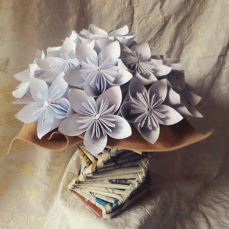 Kusudama paper flower