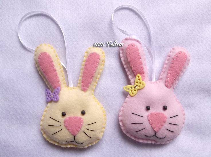 Felt rabbits for Easter