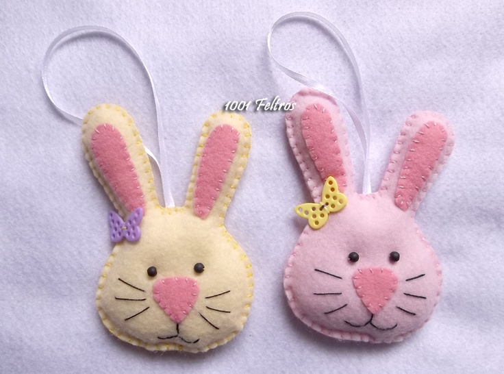 Felt rabbits for Easter