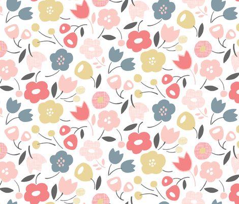 Flower Shower (Rose Quartz) fabric by leanne on Spoonflower - custom fabric
